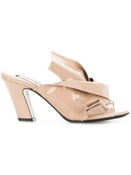 N 21 No21 Bow Detail Mules Nude And Neutrals