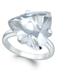 Charter Club Silver Tone Trillion Crystal Solitaire Ring Only At Macy's