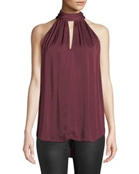 Ag Jeans Honor Halter Keyhole Top Dark Red
