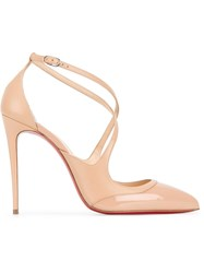 Christian Louboutin Criss Cross Pumps Nude And Neutrals