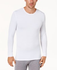 32 Degrees Men's Base Layer Crew Neck Shirt White
