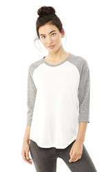 Alternative Apparel Women's Alternative Jersey Baseball Tee Eco Ivory