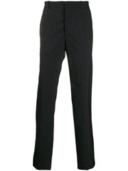 Alexander Mcqueen Pinstripe Tailored Trousers Blue