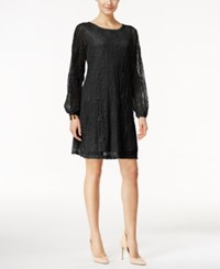 Styleandco. Style Co. Sheer Sleeve Lace Dress Only At Macy's Deep Black