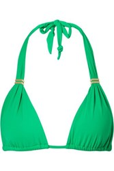 Vix Swimwear Bia Triangle Bikini Top Green