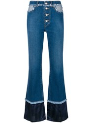 Sonia Rykiel High Waisted Bootcut Jeans Blue