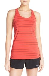 Brooks Women's 'Go To' Racerback Tank Poppy Asphalt