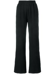 See By Chloe Laddered Trim Wide Leg Trousers Black