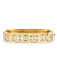 Pois Moi Yellow Gold 2 Row Diamond Bangle Robert Coin