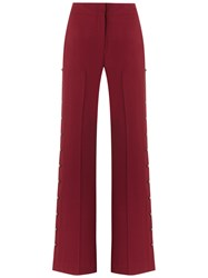 Giuliana Romanno Flared Trousers Burgundy