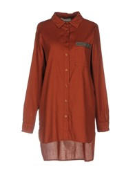 Boutique De La Femme Shirts Brown