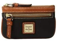 Dooney And Bourke Pebble Small Coin Case Black Coin Purse