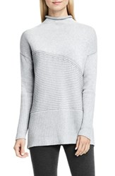 Vince Camuto Women's Rib Knit Turtleneck Sweater Light Heather Grey