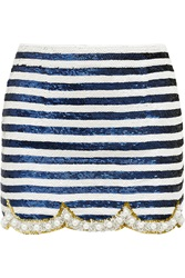 Ashish Embellished Silk Georgette Mini Skirt