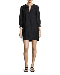 Elizabeth And James Heidi Full Body Three Quarter Sleeve Dress Black