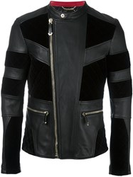 Philipp Plein 'Alder' Leather Jacket Black