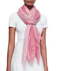 Sofia Cashmere Featherweight Cashmere Dip Dye Shawl Rose Pink