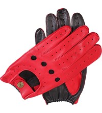 Dents Waverley Two Tone Leather Driving Gloves Berry Black