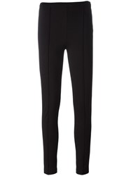 Twin Set Ribbed Detailing Leggings Black