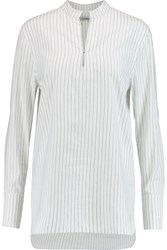 Toteme Cairo Striped Cotton And Linen Blend Shirt White