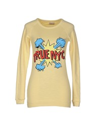 Truenyc. Topwear Sweatshirts Women Yellow