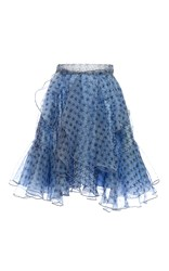 Holly Fulton Penrose Ruffled Organza Mini Skirt Black