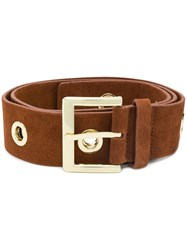 B Low The Belt Buckled Brown