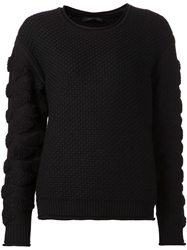 Ohne Titel Tufted Knit Sweater Black
