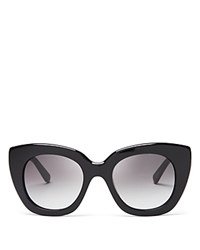 Kate Spade New York Narelle Oversize Thick Rim Cat Eye Sunglasses 51Mm Black Gray Gradient
