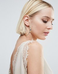 Johnny Loves Rosie Embellished Hoop Earrings Gold