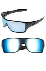 Oakley Men's Turbine Rotor 68Mm Polarized Sunglasses Black Blue Black Blue