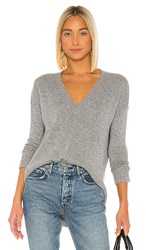 Autumn Cashmere Distressed Edge Sweater In Gray. Nickel