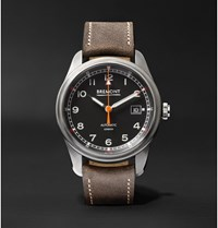 Bremont Airco Mach 1 Automatic Chronometer 40Mm Stainless Steel And Leather Watch Black