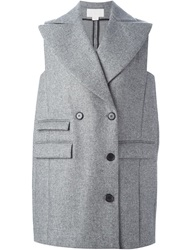 Antonio Berardi Double Breasted Sleeveless Coat Grey