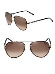Montblanc 60Mm Rimless Aviator Sunglasses Gold