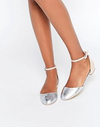 Miss Kg Mindy Nude And Silver Mix Embellished Heel Flat Shoes Beige