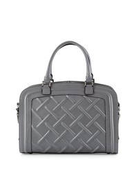 Charles Jourdan Misty Quilted Leather Satchel Bag Gray