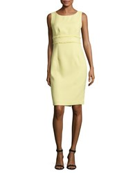 Nipon Boutique Textured Sleeveless Sheath Dress Mojito
