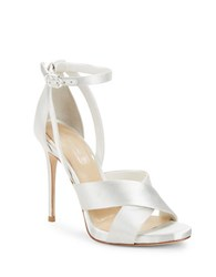 Imagine Vince Camuto Dairren Satin Ankle Strap Dress Sandals White