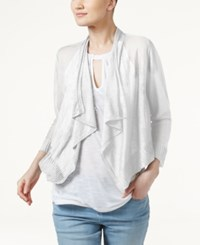 Inc International Concepts Linen Blend Cropped Cardigan Only At Macy's Washed White