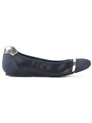 Hogan 'Wrap H144' Ballerinas Blue