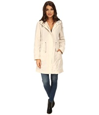Rainforest Packable Anorak W Contrast Roll Back Cuff Cream Women's Coat Beige
