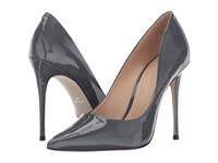 Massimo Matteo Pointy Toe Pump 17 Gris Patent Women's Shoes Pewter