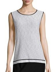 Nipon Boutique Textured Knit Top Grey