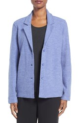 Eileen Fisher Women's Notch Collar Merino Wool Jacket Periwinkle