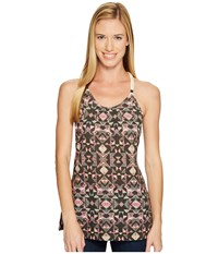 Woolrich Bell Canyon Printed Tank Top Espresso Women's Sleeveless Brown