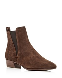 Aquatalia By Marvin K Fausta Weatherproof Suede Pointed Toe Booties Chestnut