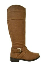 Twisted Chloe Tall Boot Brown