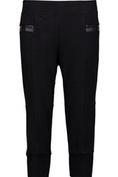 Adidas By Stella Mccartney Cropped Cotton Blend Jersey Track Pants Small Unknown
