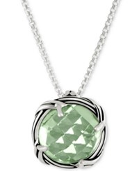 Peter Thomas Roth Parsiolite 20 Pendant Necklace 4 Ct. T.W. In Sterling Silver Green